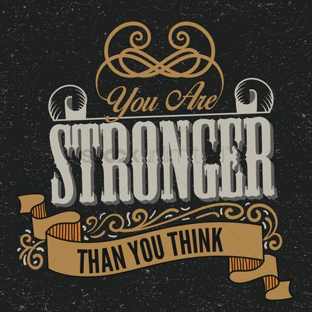 Mindset : You are stronger than you think typography design