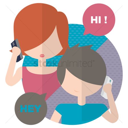 Dialogue : Young girl and boy talking on phone