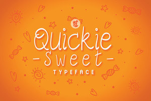Fonts : Quicky Sweet Typeface