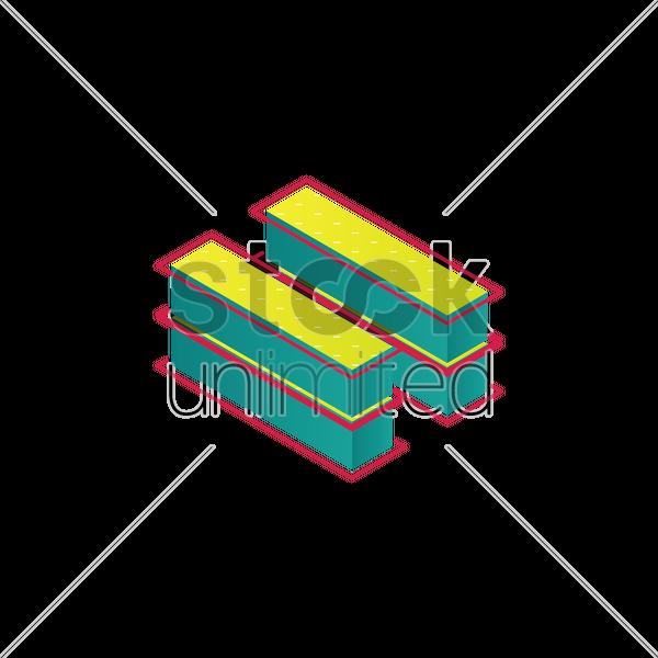 Free 3d Equals Symbol Vector Image 1566952 Stockunlimited