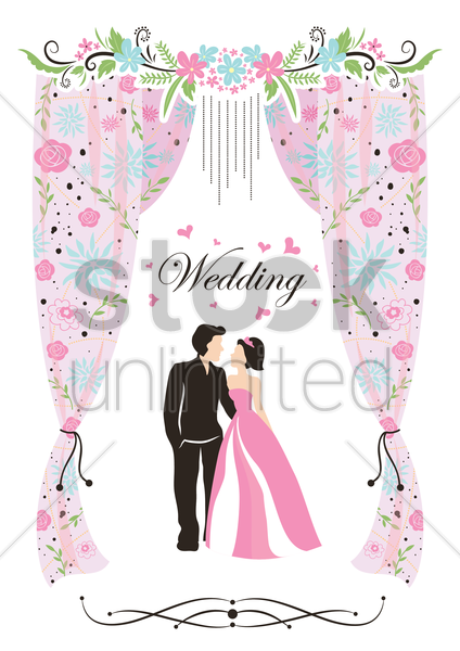 a wedding card vector graphic