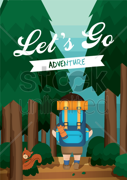 adventure poster design vector graphic