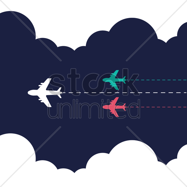 airplanes vector graphic