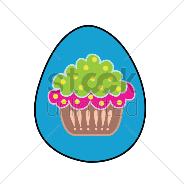 Free an easter egg isolated over white background vector graphic
