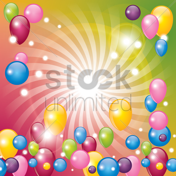 balloons with creative design vector graphic