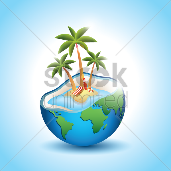 beach on a planet vector graphic