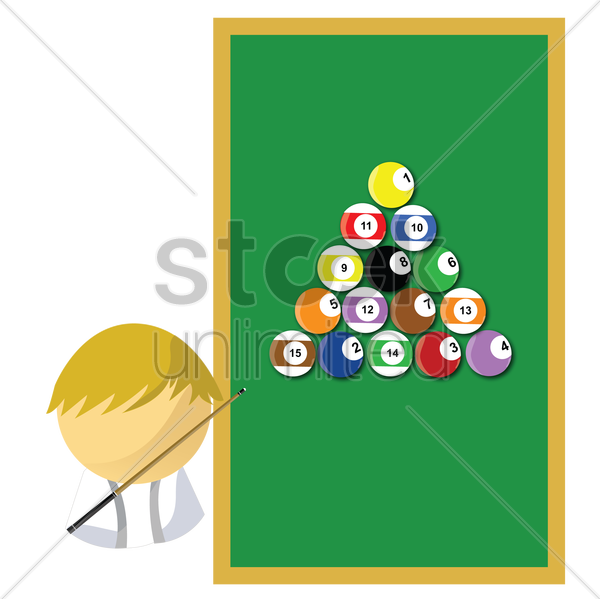 billiards player vector graphic