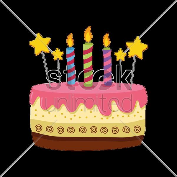 Birthday Cake Vector Graphic