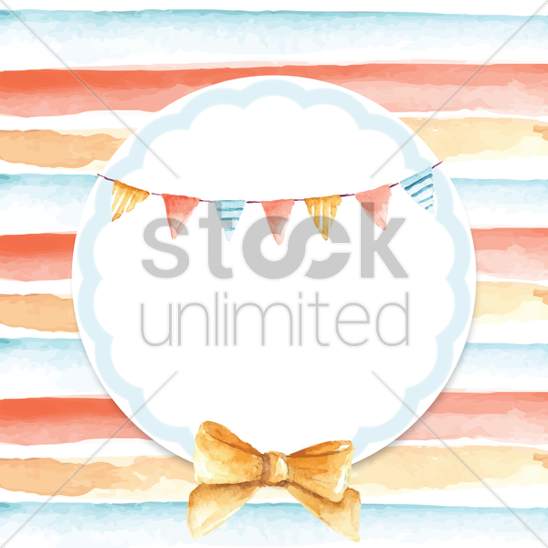 Birthday Card With Bunting Flags And Copy Space Vector Image