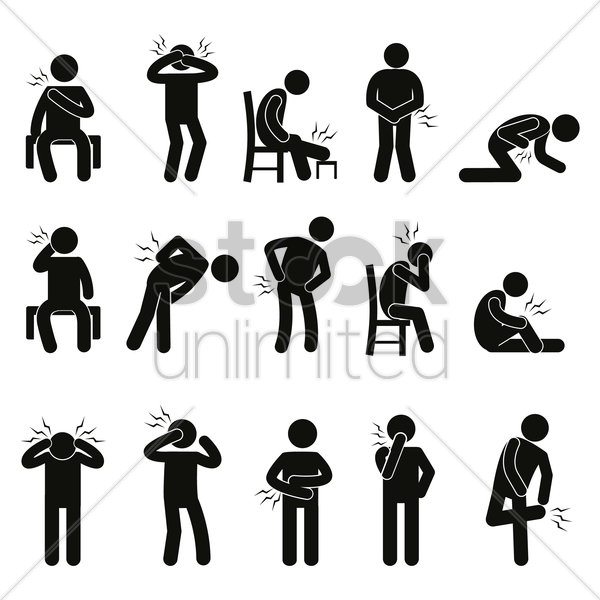 body ache pain people vector graphic