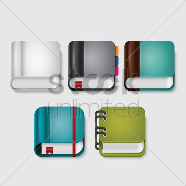 book icons vector graphic