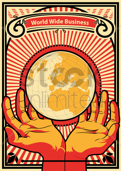 business globalization vector graphic