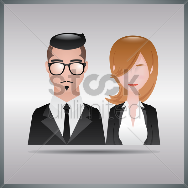 businessman and businesswoman vector graphic