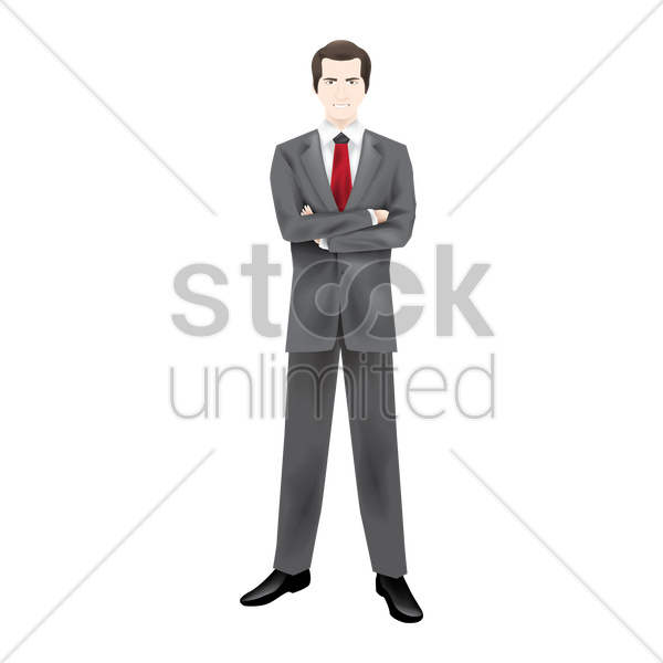 businessman with folding hands vector graphic