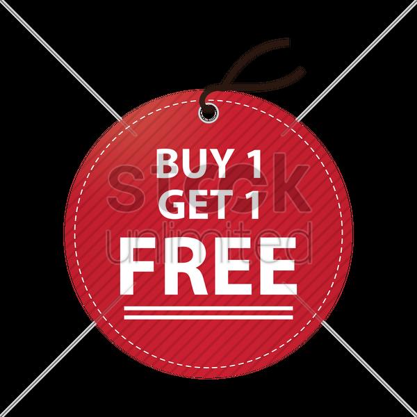 Buy One Get One Free: Free Buy One Get One Free Tag Vector Image