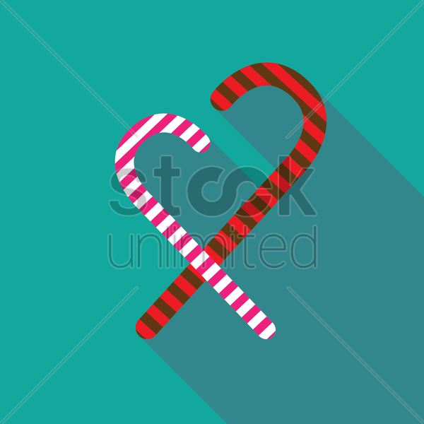 candy cane vector graphic