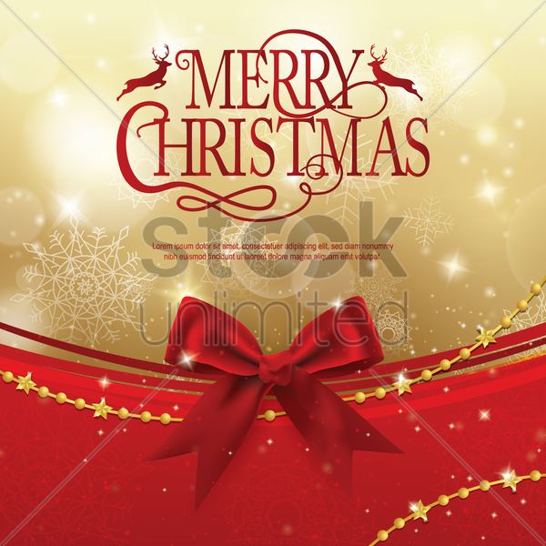 christmas greeting vector graphic