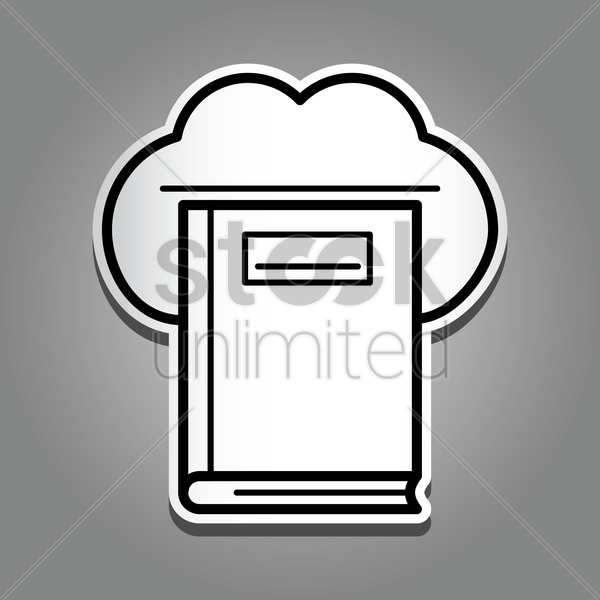 cloud computing book vector graphic