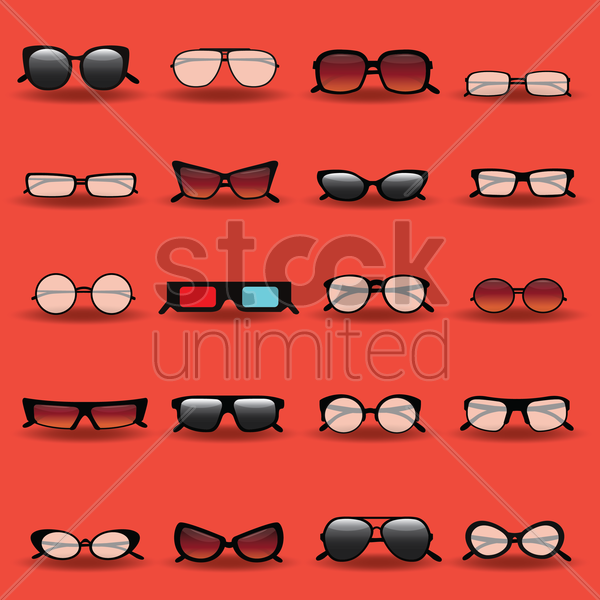 593a9a0d2d46 Collection of glasses Vector Image - 1504504 | StockUnlimited