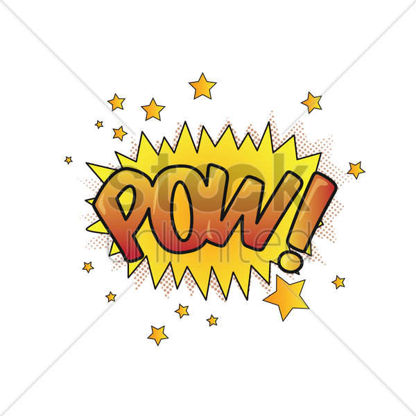 Free comic effect pow vector graphic