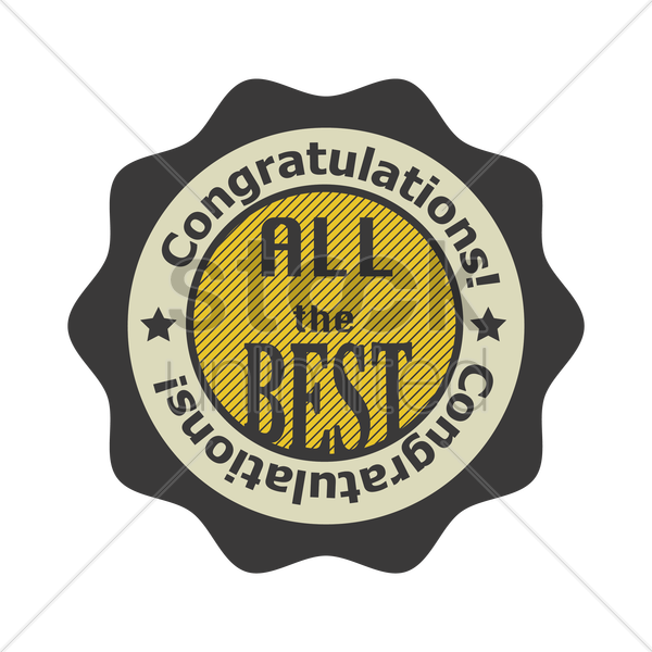 Congratulations All The Best Stamp Seal Vector Image 1710232