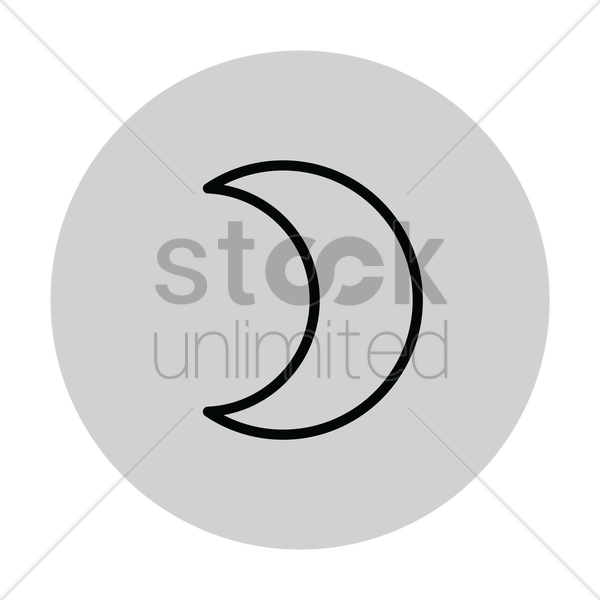 free crescent moon vector image 1282916 stockunlimited free crescent moon vector image