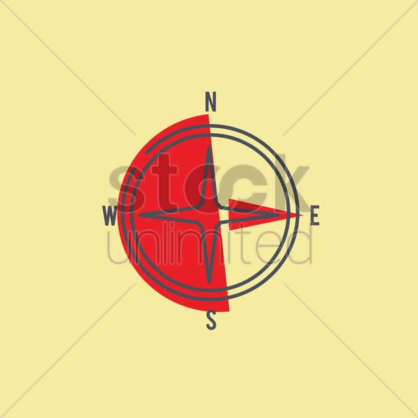 direction compass vector graphic