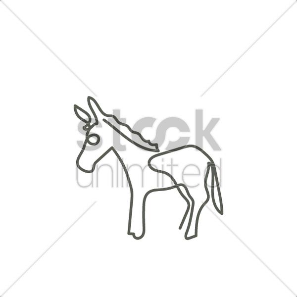 donkey vector image 2032036 stockunlimited Kinds of Donkeys donkey vector graphic