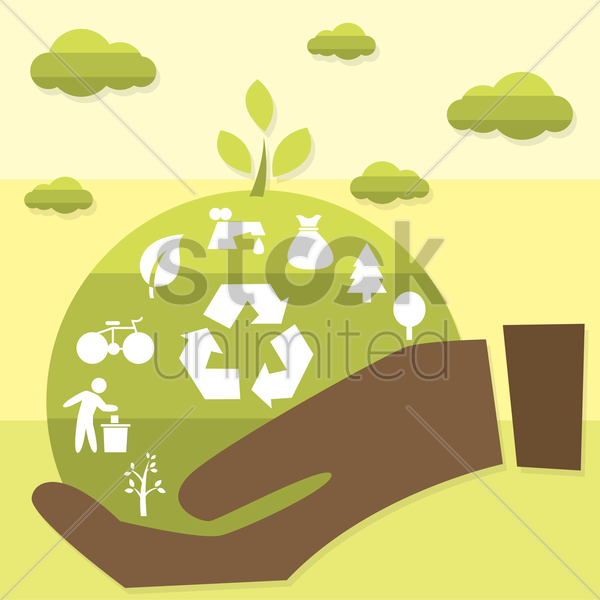 ecological concept vector graphic