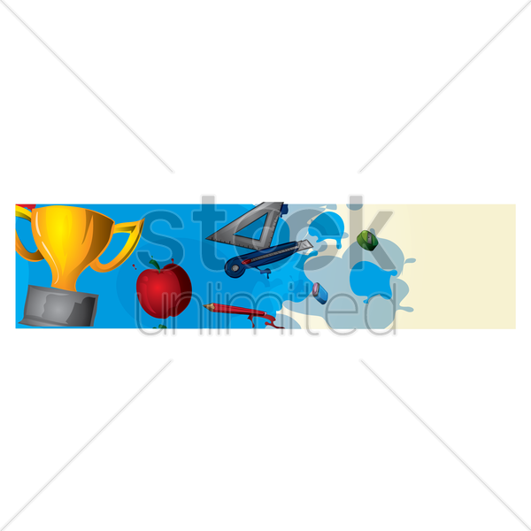 Education Banner Vector Image 1632956 Stockunlimited