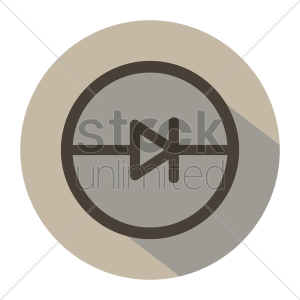 Free Electric Circuit Symbol For Diode Vector Image 1248224