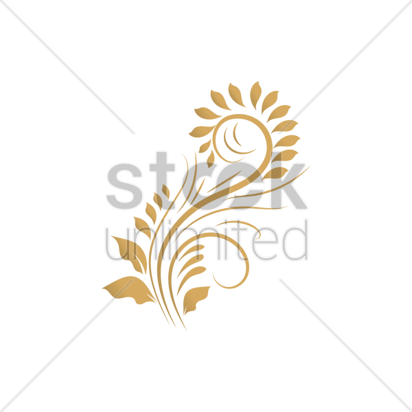 Floral Motif Design Vector Image 2020268 Stockunlimited