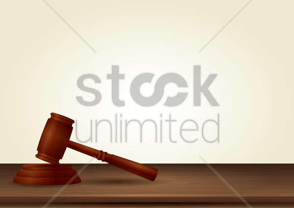 gavel vector graphic
