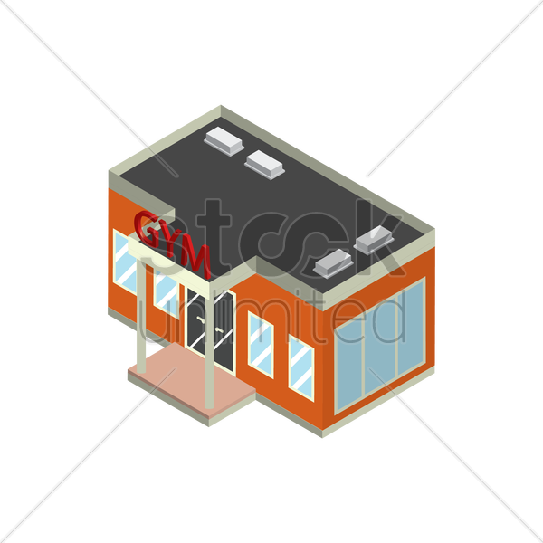 gym building vector image 2020608 stockunlimited rh stockunlimited com