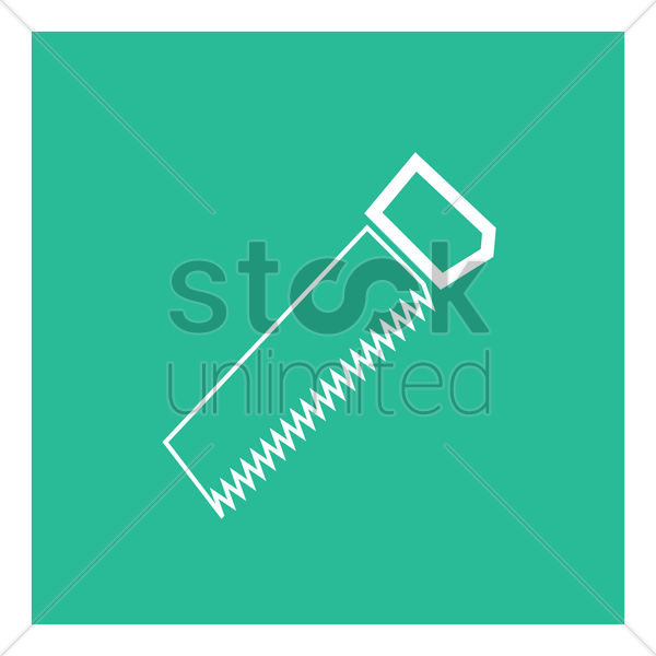 hand saw vector graphic