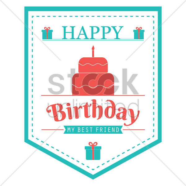 Happy Birthday Banner Design Vector Image