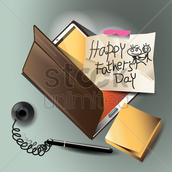 happy father's day design vector graphic