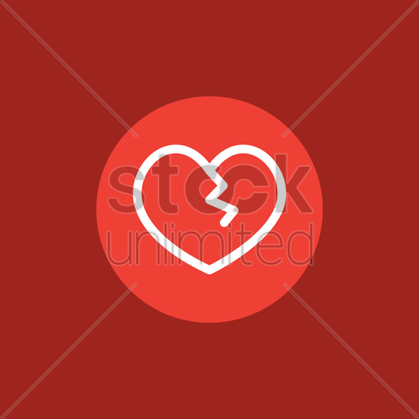 Heart With Scar Vector Image 1622176 Stockunlimited