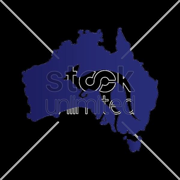 Australia Map Png.Kangaroo Silhouette On Australia Map Vector Image 1961548