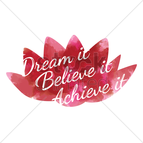 motivational quote vector graphic