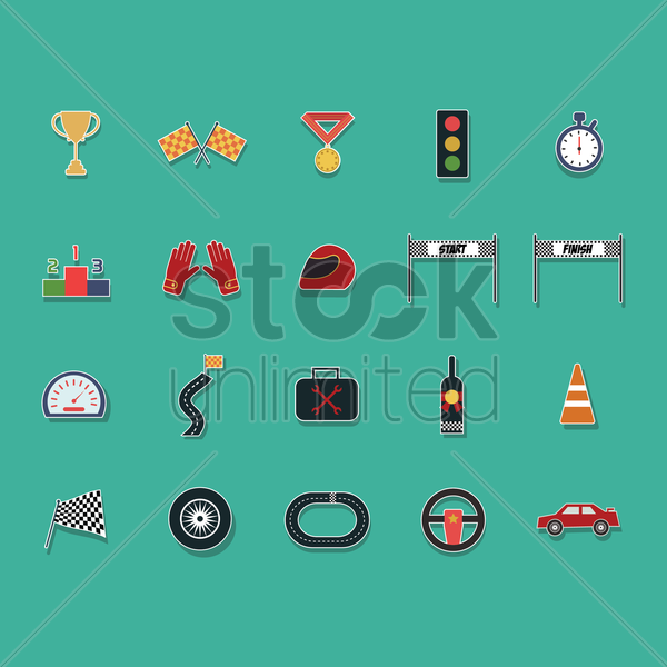 motor racing collection vector graphic