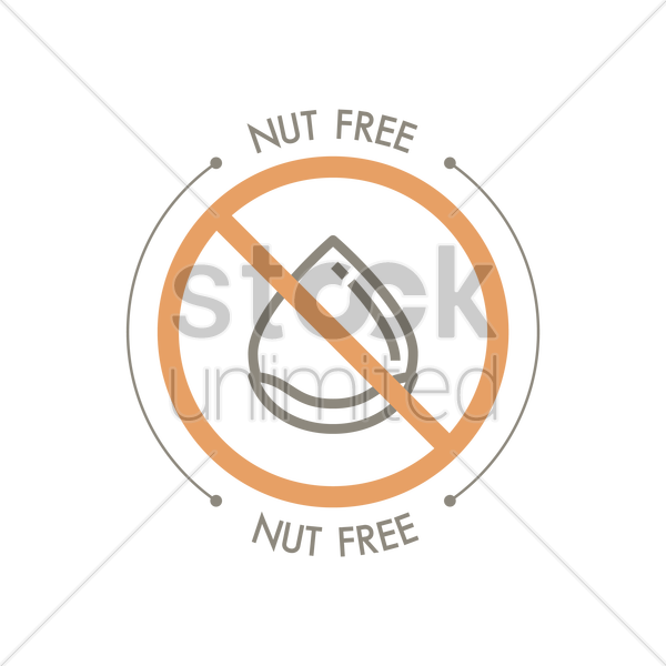 Nut Free Label Design Vector Image 1959788 Stockunlimited