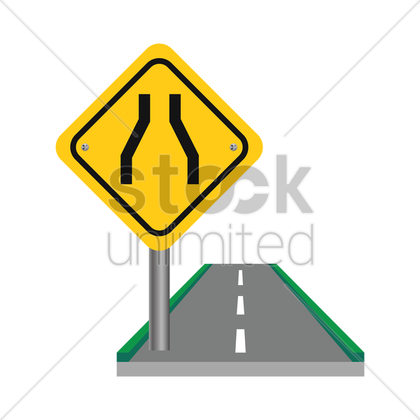 one lane road sign vector graphic