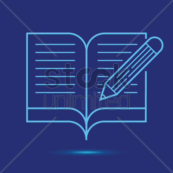 open book with pen icon vector image 1577828 stockunlimited