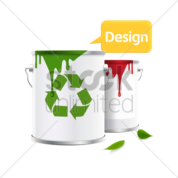 Paint Can With Recycle Symbol Vector Image 1501468 Stockunlimited