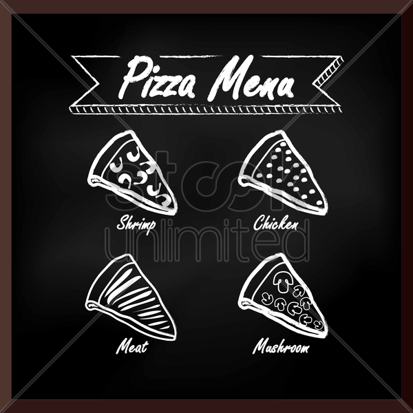 pizza menu design vector graphic