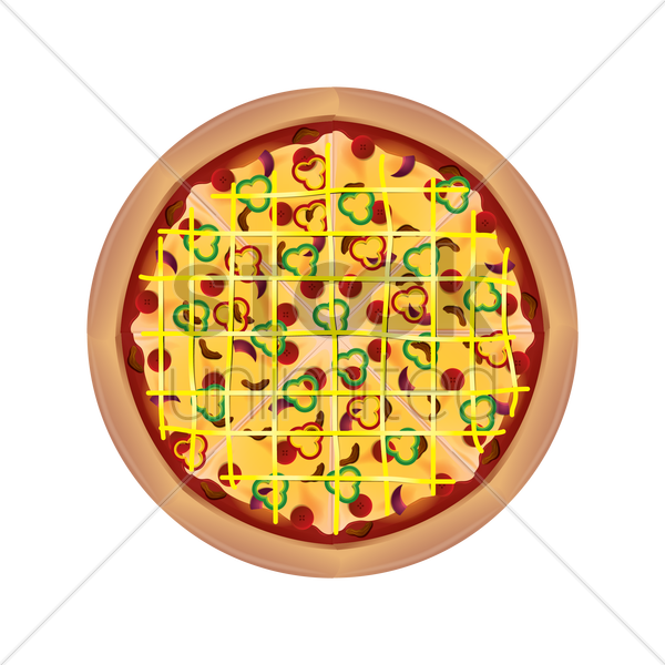 pizza vector graphic
