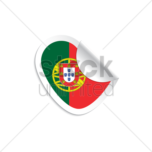 portugal flag sticker vector graphic