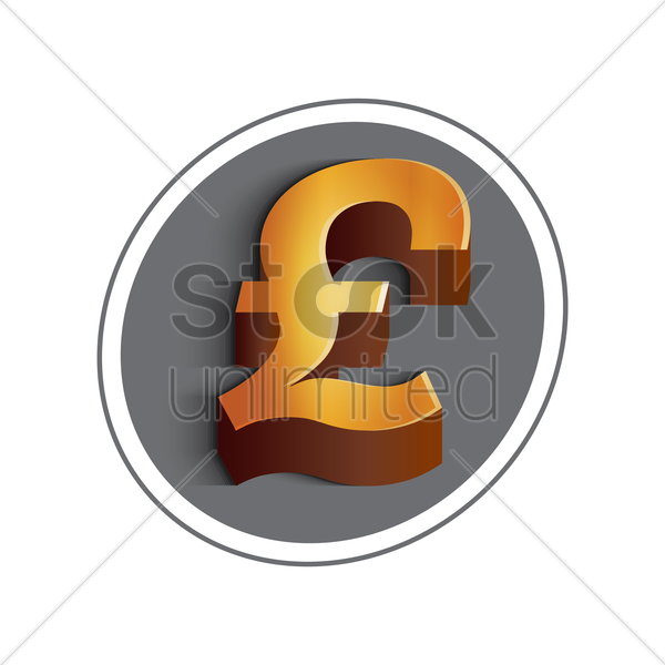 Pound Currency Symbol Vector Image 1611896 Stockunlimited