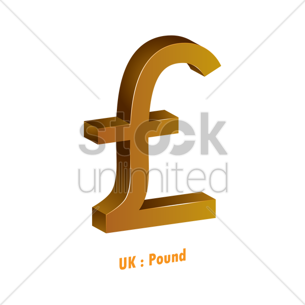 Pound Currency Symbol Vector Image 1821580 Stockunlimited